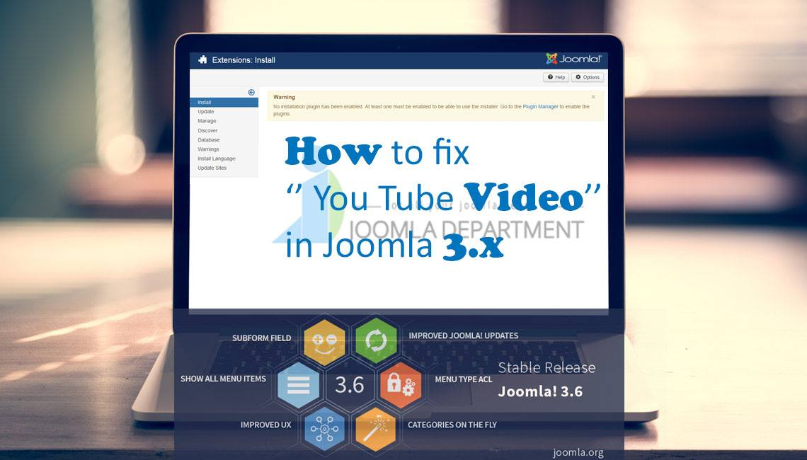 Embed Youtube video in Joomla